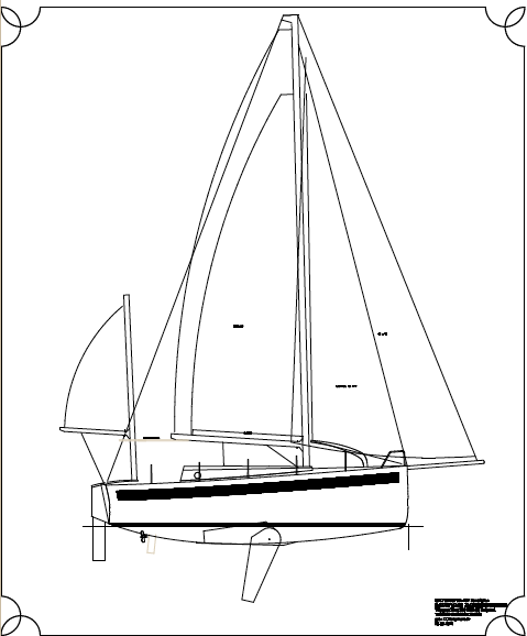 Concept drawing of the Sustainable Yacht